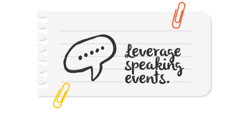 8 leverage speaking events